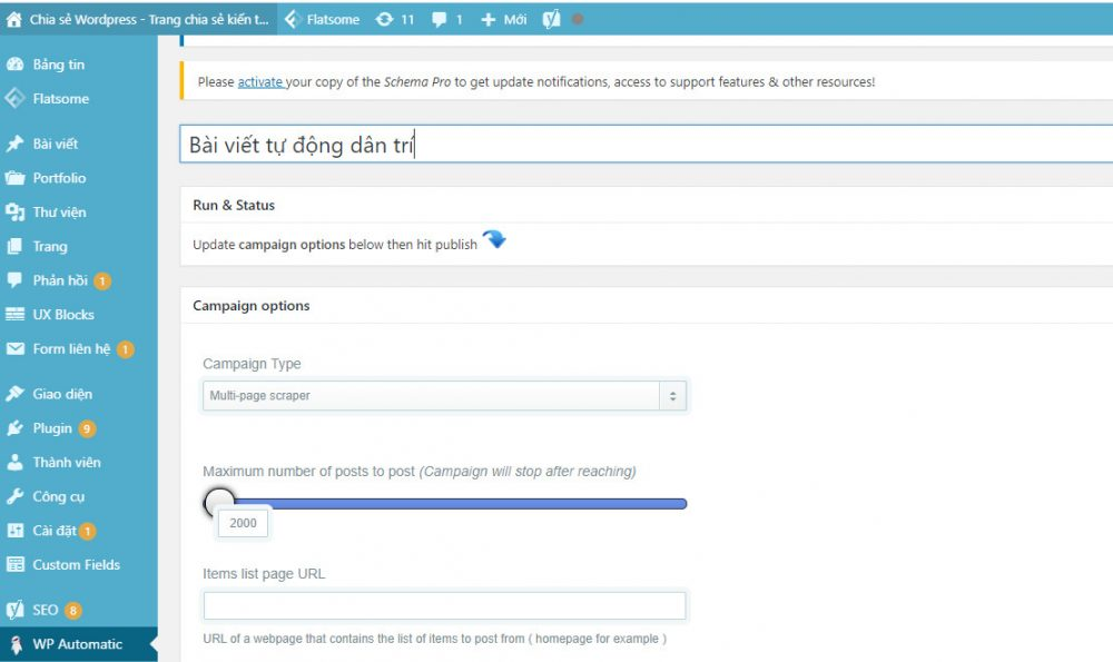Automatic Wordpres Plugin - Lấy tin tự động