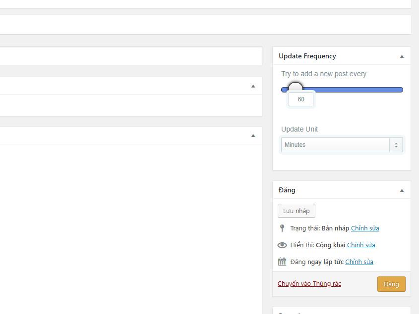 Đăng chiến dịch WordPress automatic Plugin