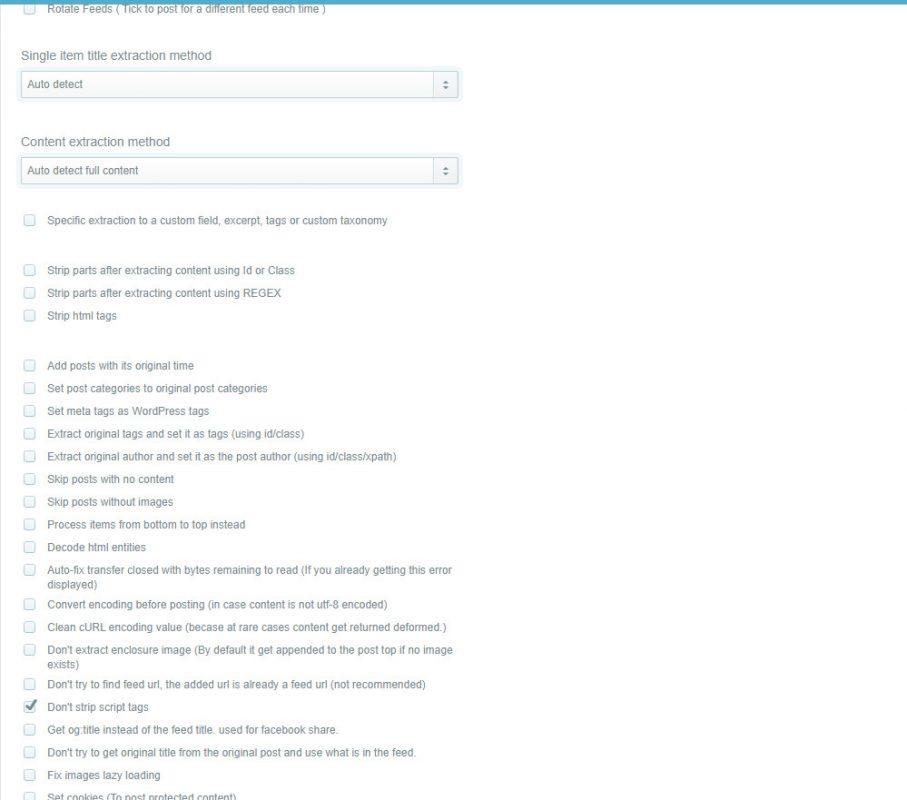 Tùy chọn lấy tin bài wordpress automatic Plugin