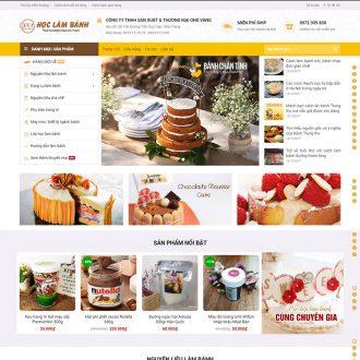 theme wordpress bán bánh ngọt
