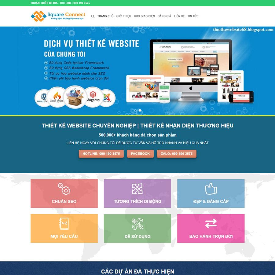 theme wordpress dịch vụ thiết kế web