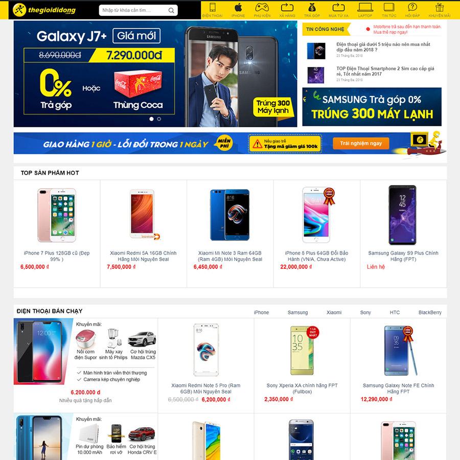 theme wordpress bán điện thoại di động