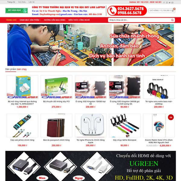 theme wordpress bán linh kiện điện tử