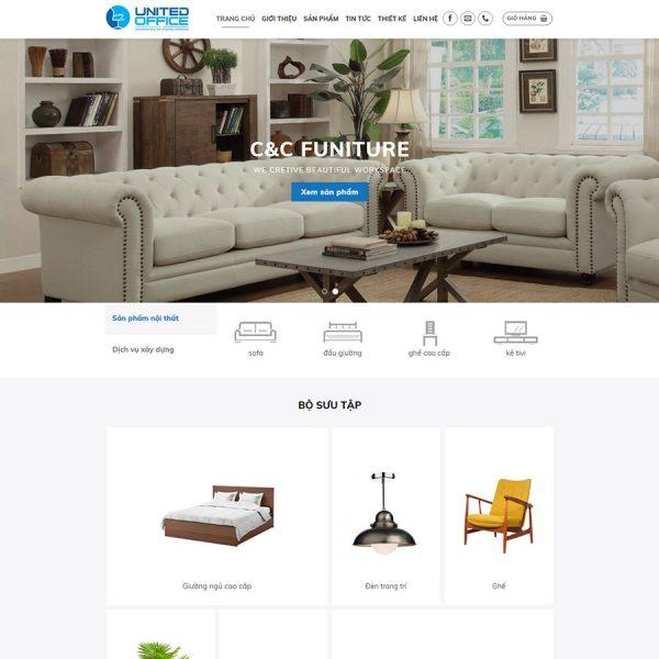 theme wordpress bán nội thất
