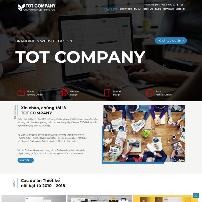 Theme wordpress doanh nghiệp 01