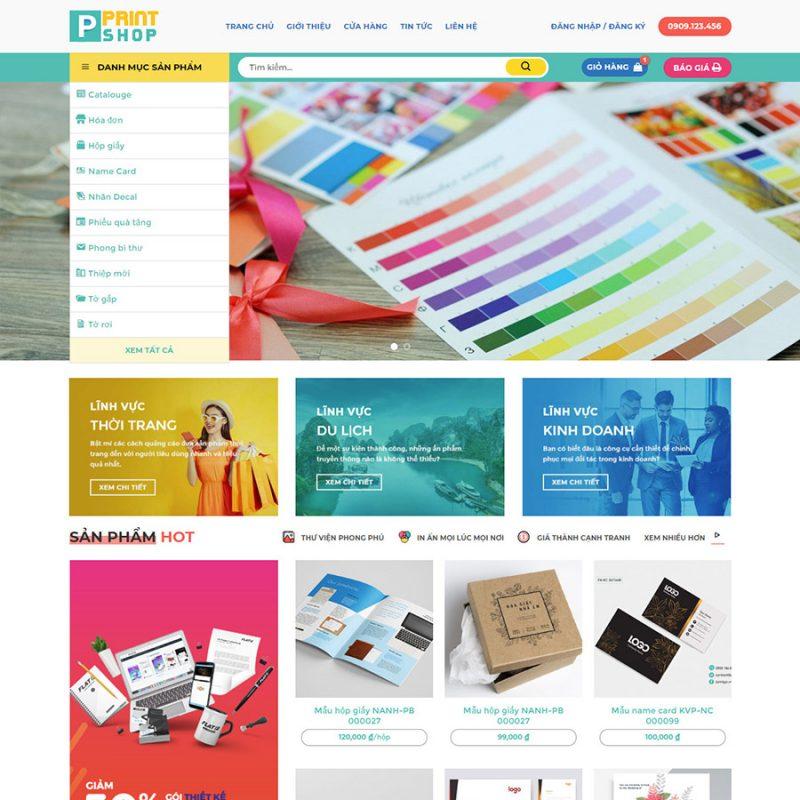 Theme wordpress dịch vụ in ấn 01