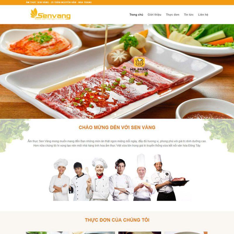 Theme wordpress nhà hàng - ẩm thực đẹp