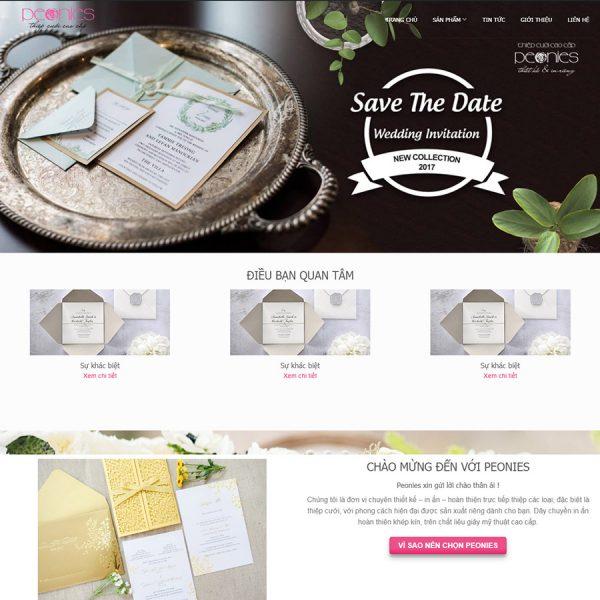 theme wordpress bán thiệp cưới