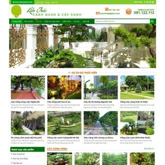 theme wordpress bán cây xanh