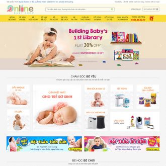 theme wordpress mẹ và bé