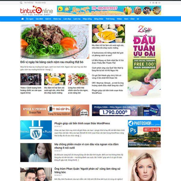theme wordpress tin tức