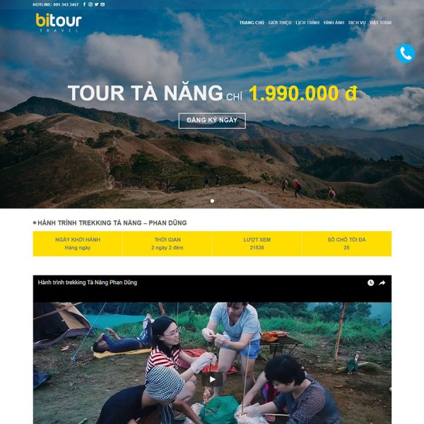 theme wordpress landing page du lịch