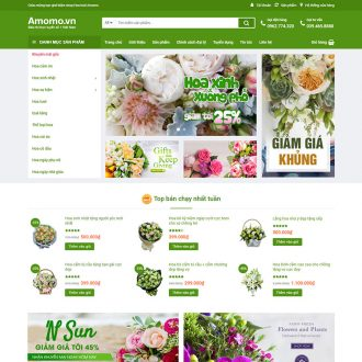 theme wordpress flatsome hoa tươi