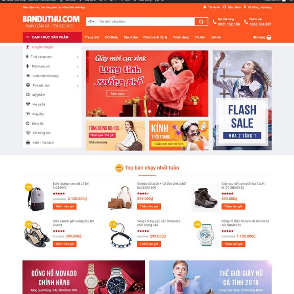 theme wordpress shop bán hàng