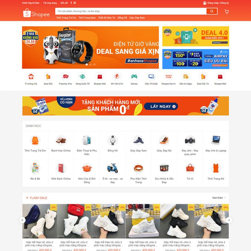 theme wordpress shopee
