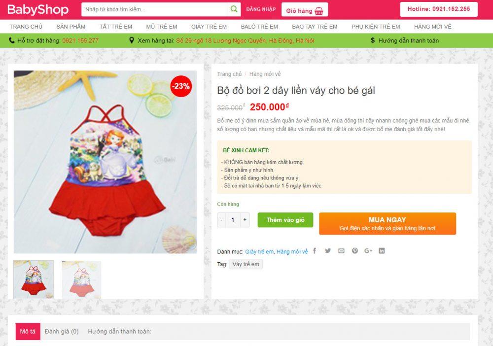 Theme wordpress bán quần áo đẹp