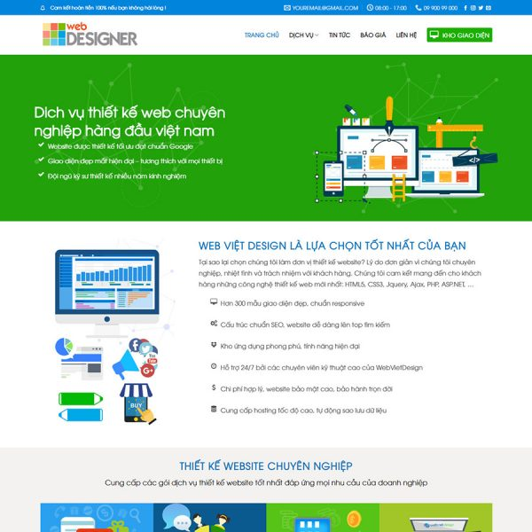 theme wordpress thiết kế web