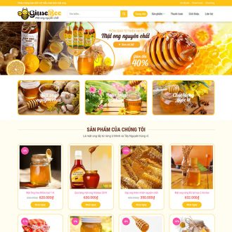 theme wordpress bán mật ong