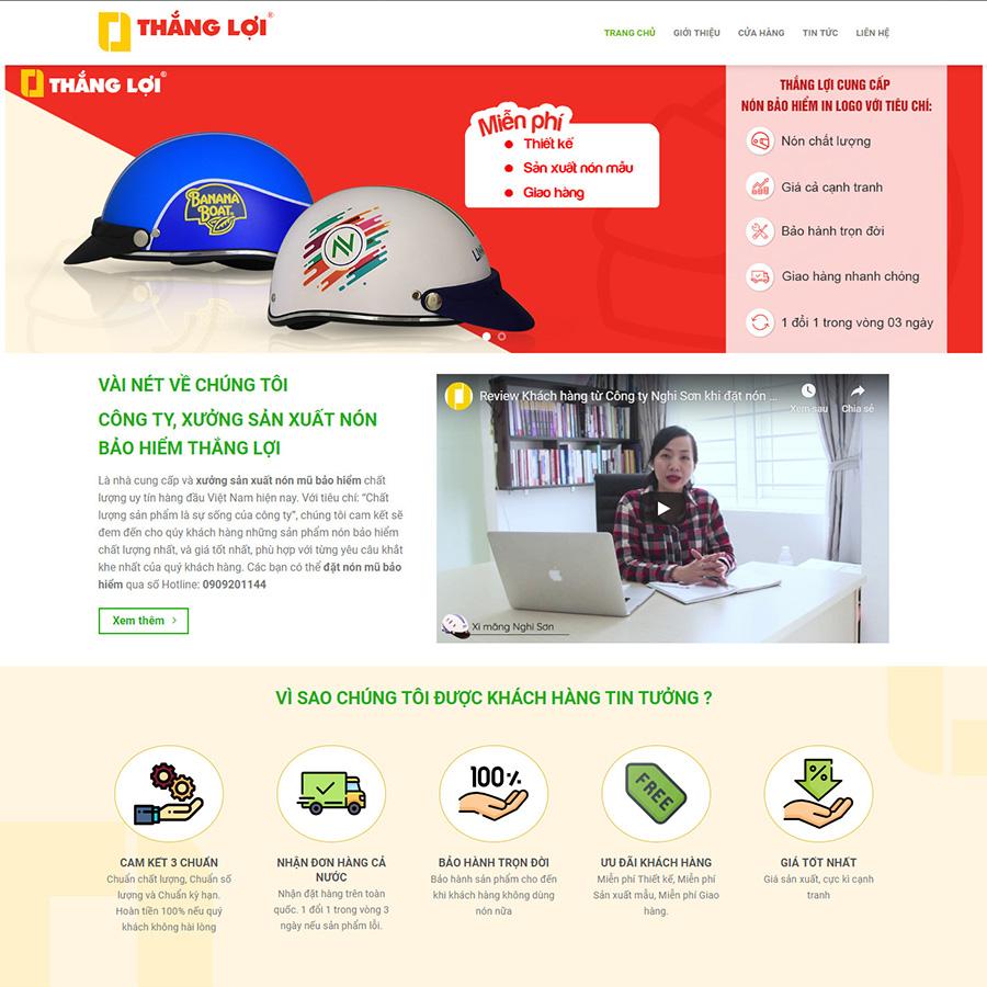 theme wordpress bán nón bảo hiểm