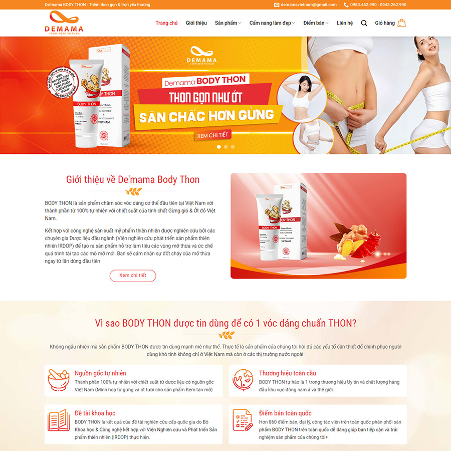 Theme wordpress thực phẩm chức năng 02