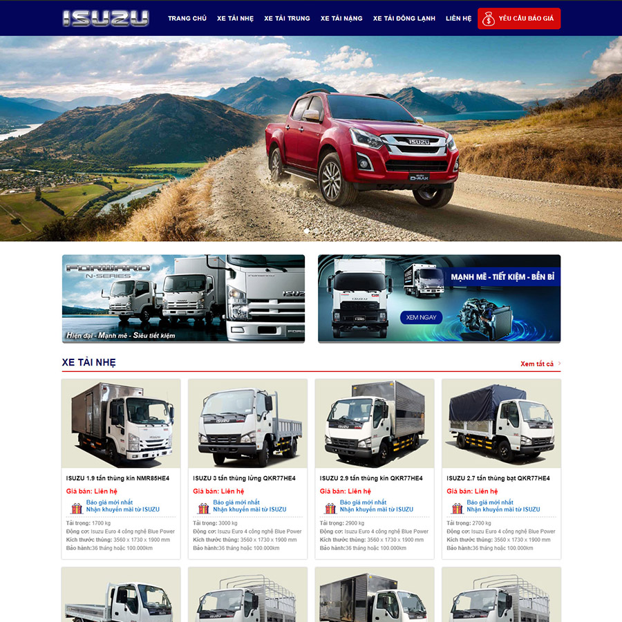Theme wordpress Isuzu