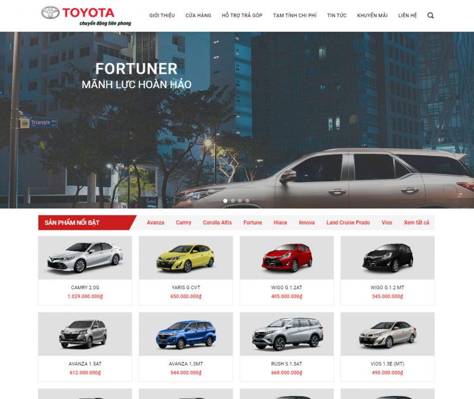 Theme wordpress bán ô tô đẹp - mẫu theme đẹp 2021
