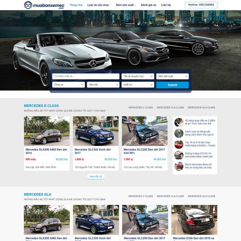 Theme wordpress mua bán xe