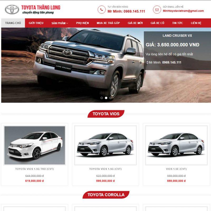 Theme wordpress bán xe hơi
