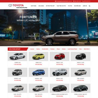 Theme wordpress toyota