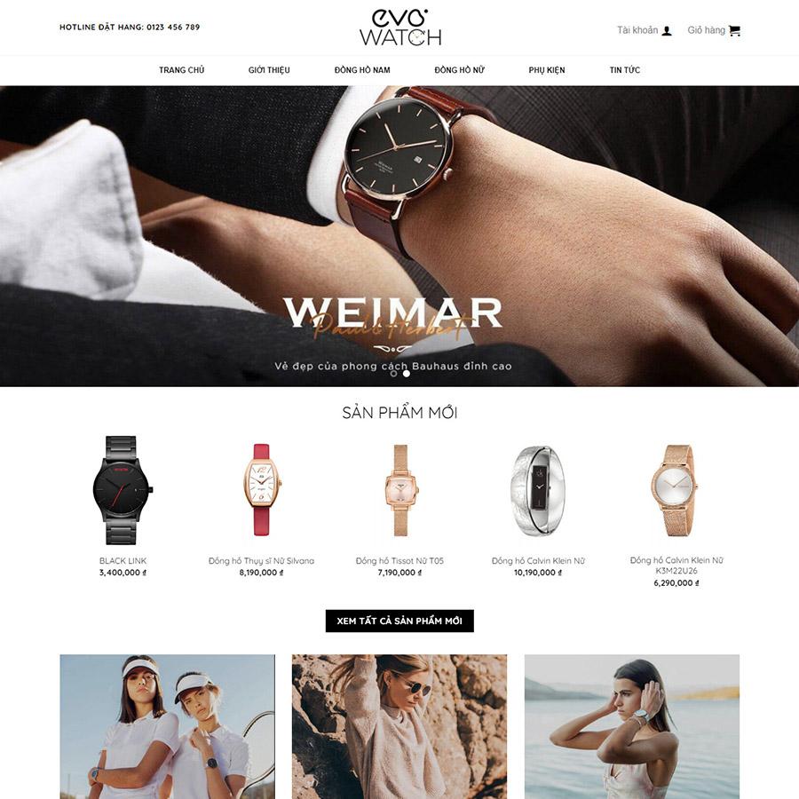 Theme wordpress bán đồng hồ