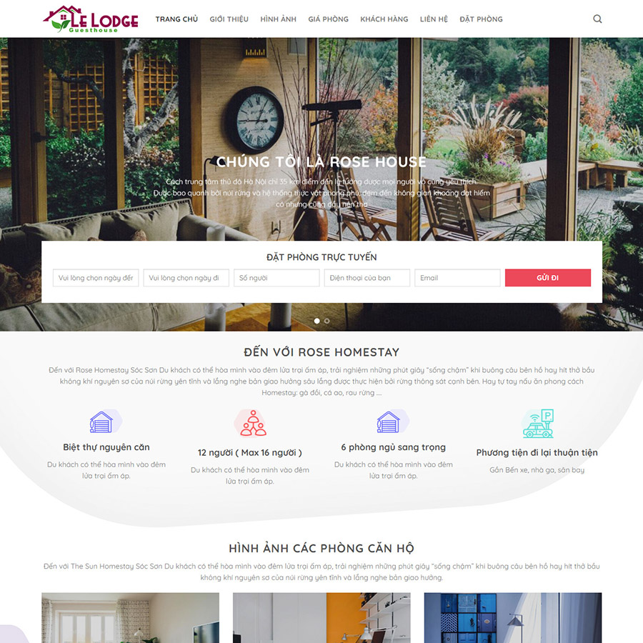 Theme wordpress homestay