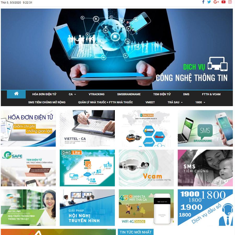Theme wordpress dịch vụ Viettel