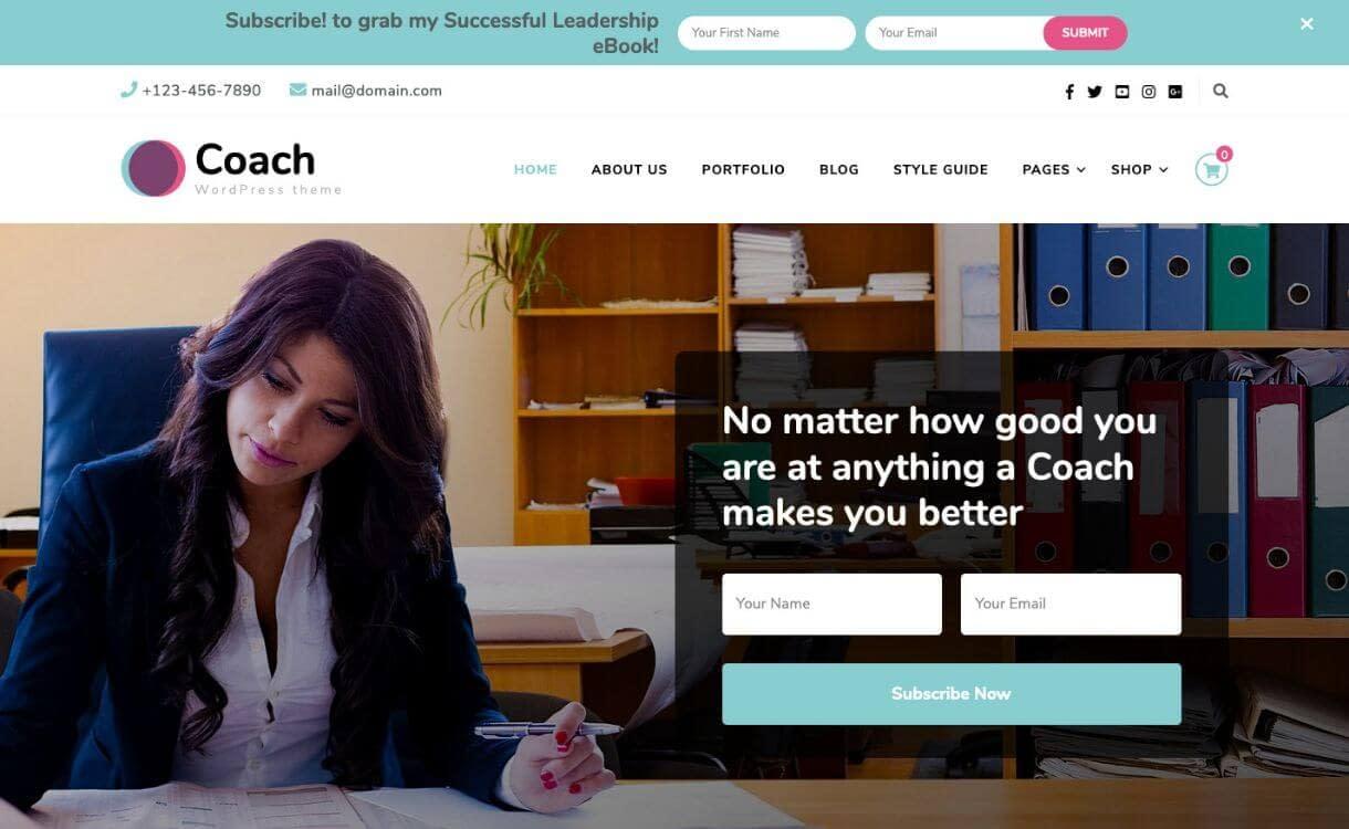 Blossom Coach Free - theme WordPress responsive