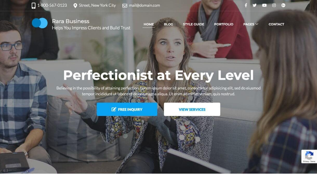 Rara Business - theme WordPress responsive miễn phí