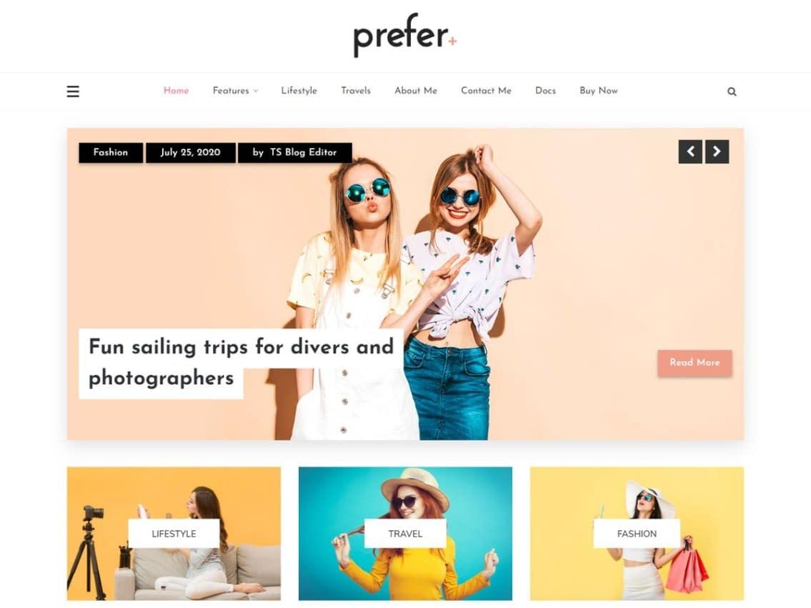 theme WordPress bố cục lưới miễn phí