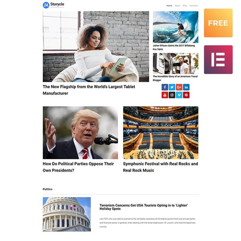 24.Storycle lite - theme WordPress responsive