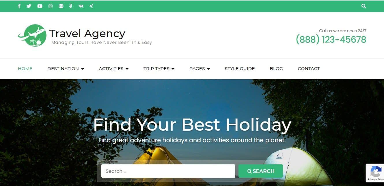 Travel Agency - theme WordPress responsive miễn phí