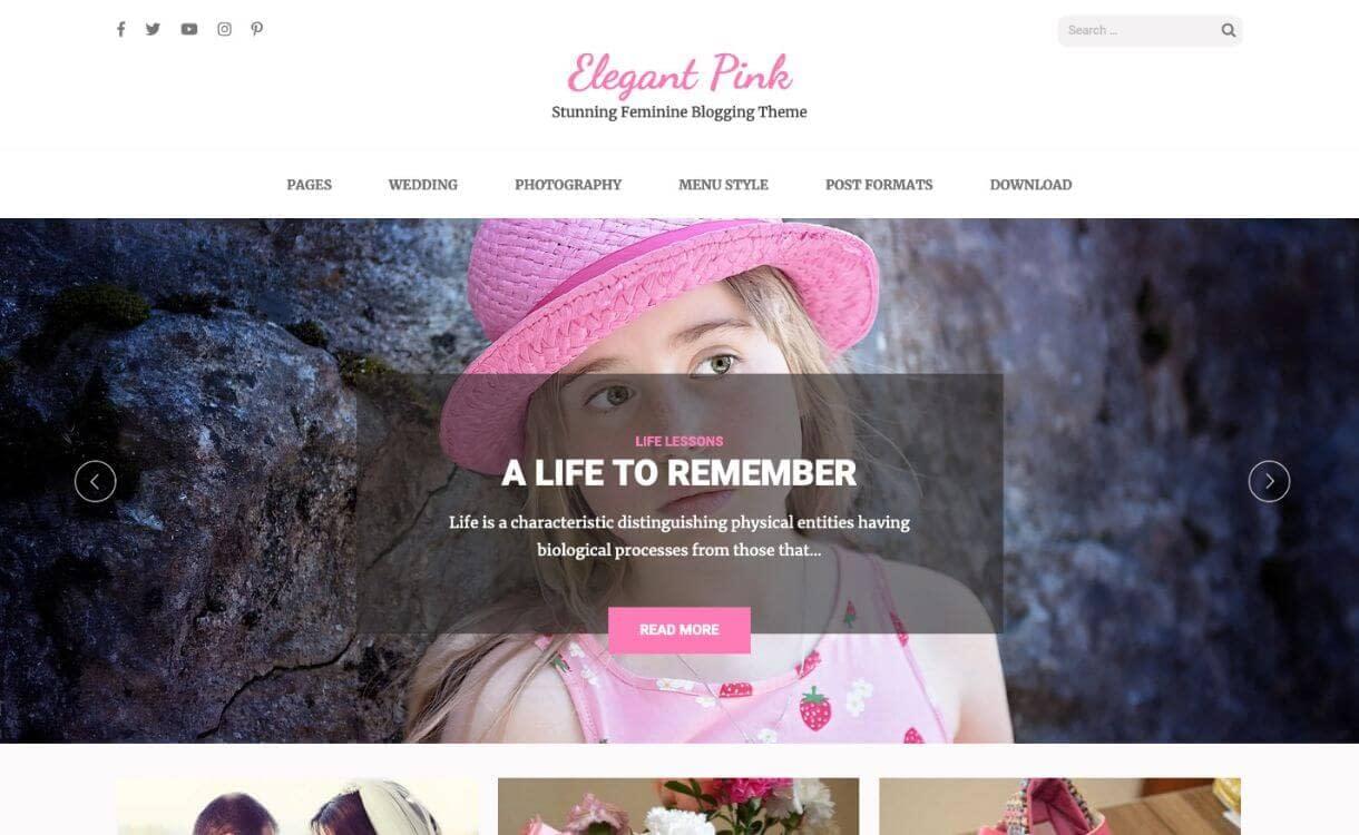 Elegant Pink - theme WordPress responsive miễn phí