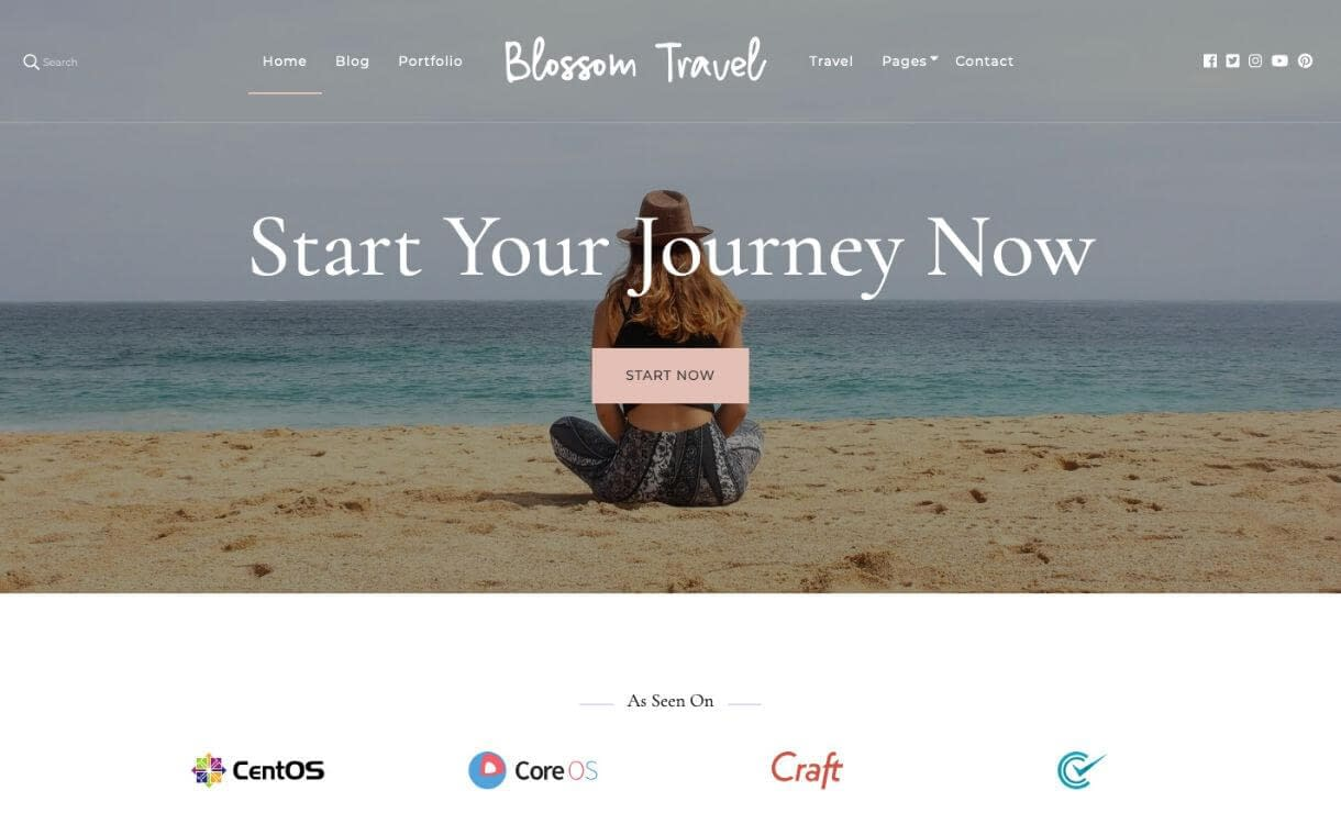 Blossom Travel - theme WordPress responsive miễn phí