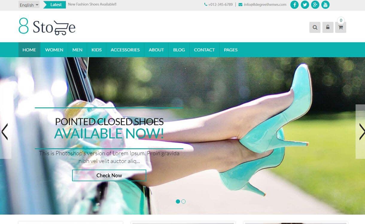 EightStore Lite - theme WordPress WooCommerce thương mại điện tử WordPress miễn phí tốt nhất