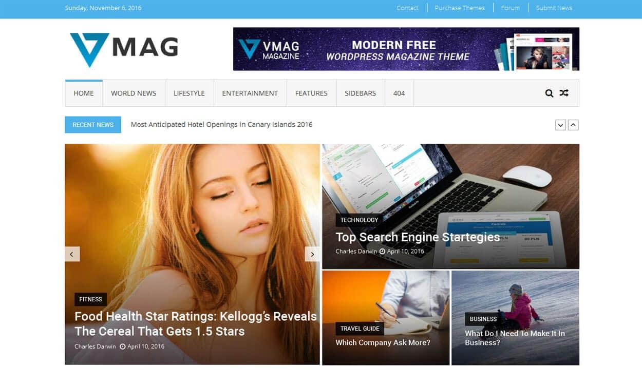 VMag - Theme WordPress Tin tức / Tạp chí / Biên tập Trực tuyến Miễn phí Tốt nhất