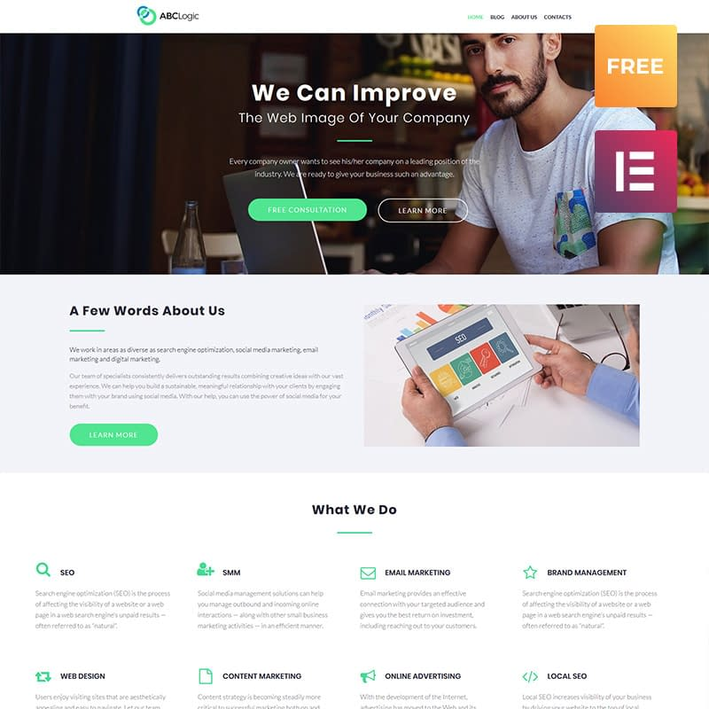 ABCLogic - Mẫu WordPress miễn phí