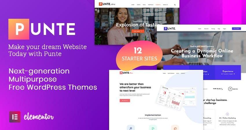 Punte - theme WordPress đa năng miễn phí