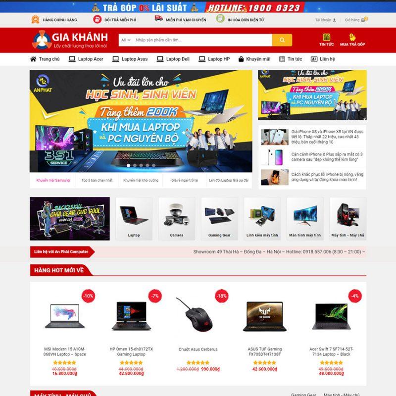 Theme wordpress bán hàng điện tử đẹp
