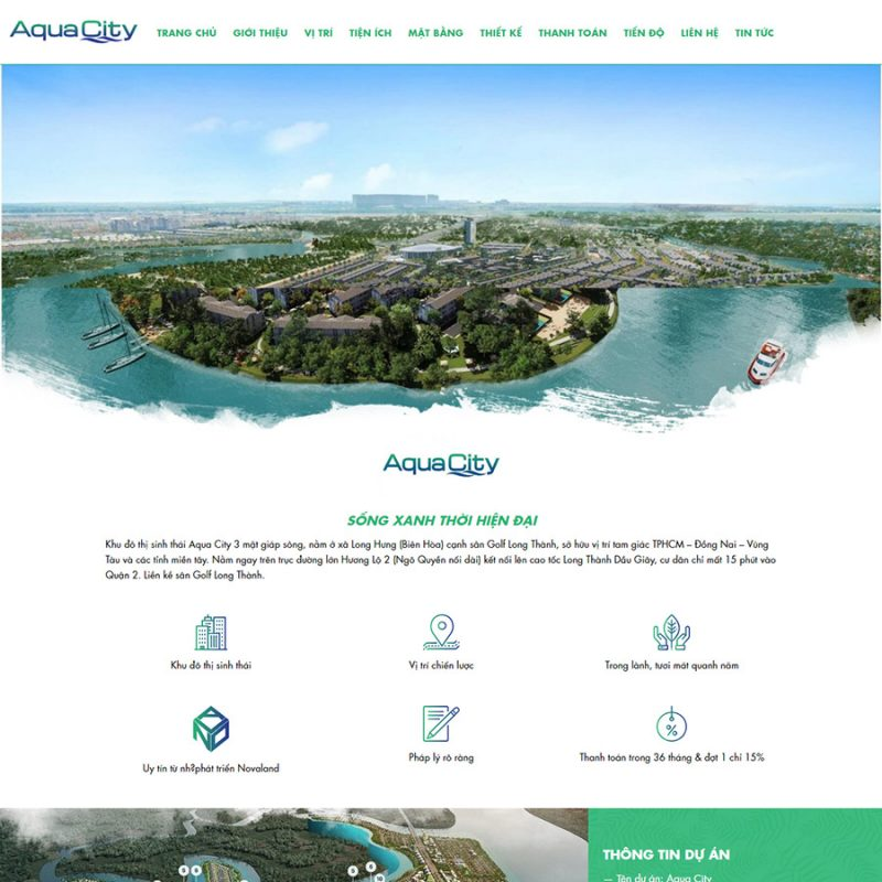 landing page bất động sản đẹp