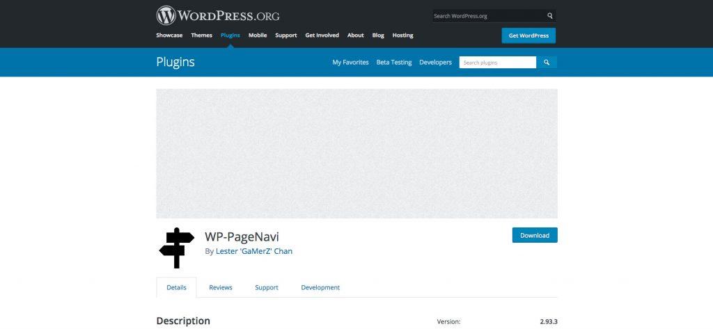Phân trang trong Wordpress - Plugin Wp-PageNavi
