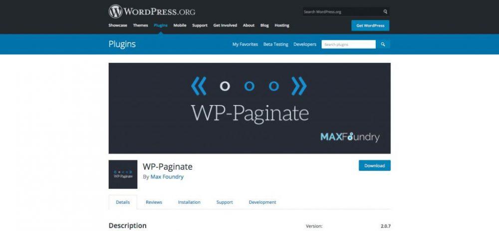 Phân trang trong WordPress - Plugin WP-Paginate